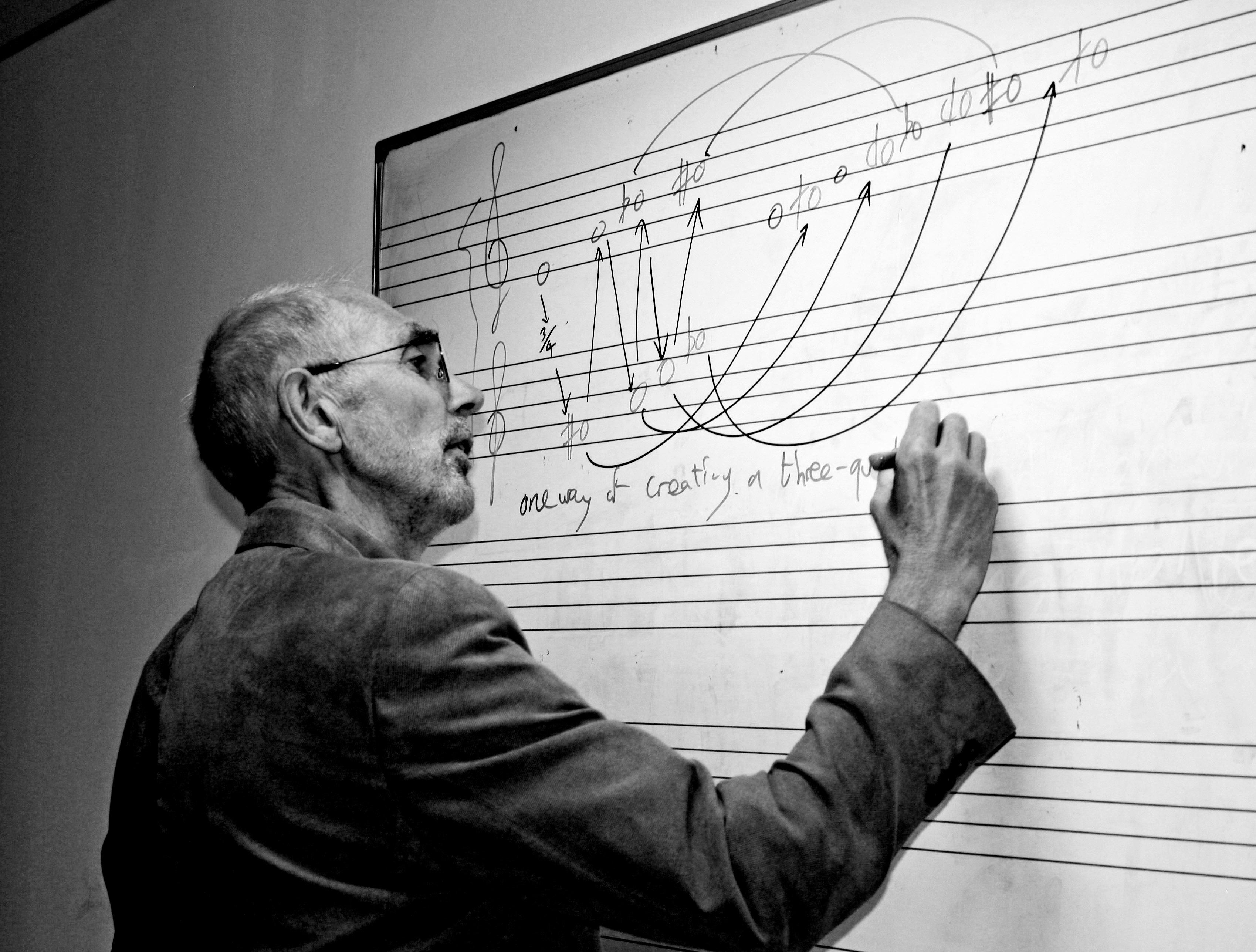 Geoff Palmer teaching music theory
